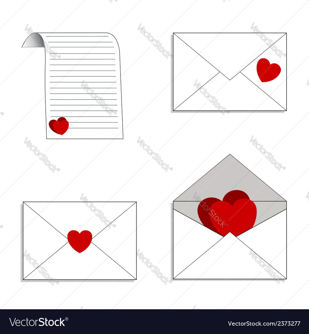 Envelopes and letters with declarations of love vector | Price: 1 Credit (USD $1)