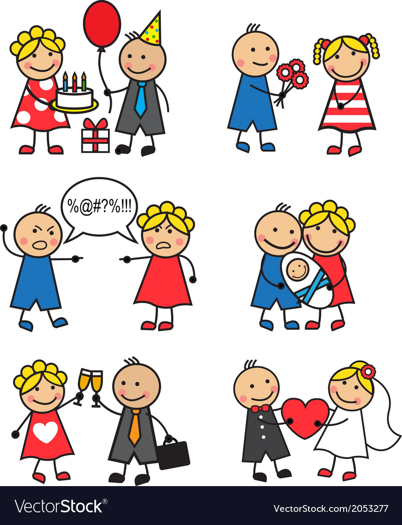 Family situations vector | Price: 1 Credit (USD $1)