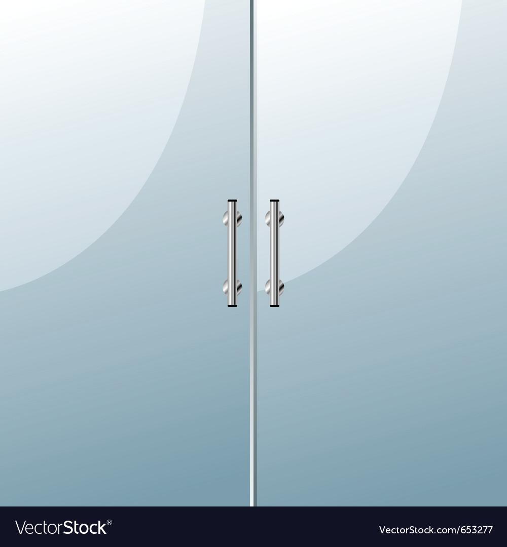 Glass door vector | Price: 1 Credit (USD $1)