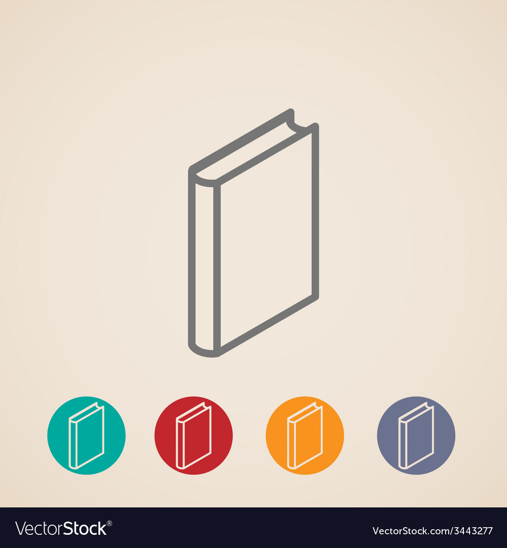 Isometric book icons vector | Price: 1 Credit (USD $1)