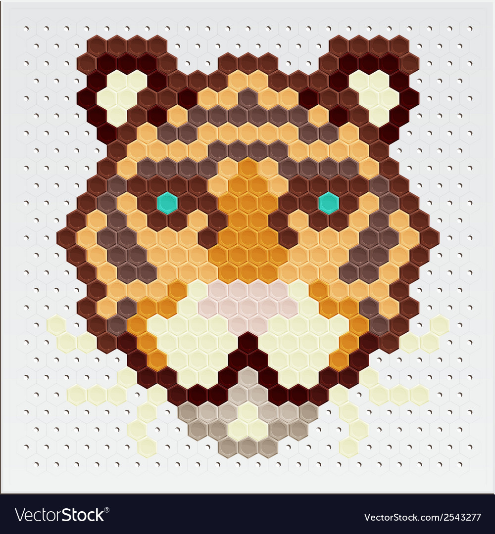 Mosaic tigers vector | Price: 1 Credit (USD $1)