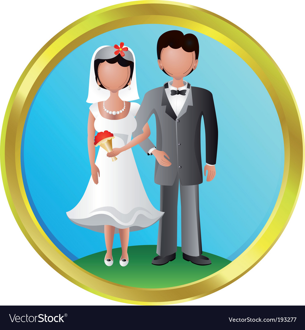 Newlyweds vector | Price: 1 Credit (USD $1)