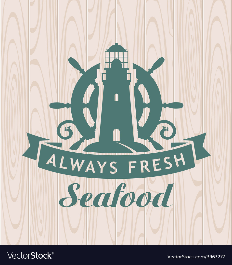 Seafood shop vector | Price: 1 Credit (USD $1)