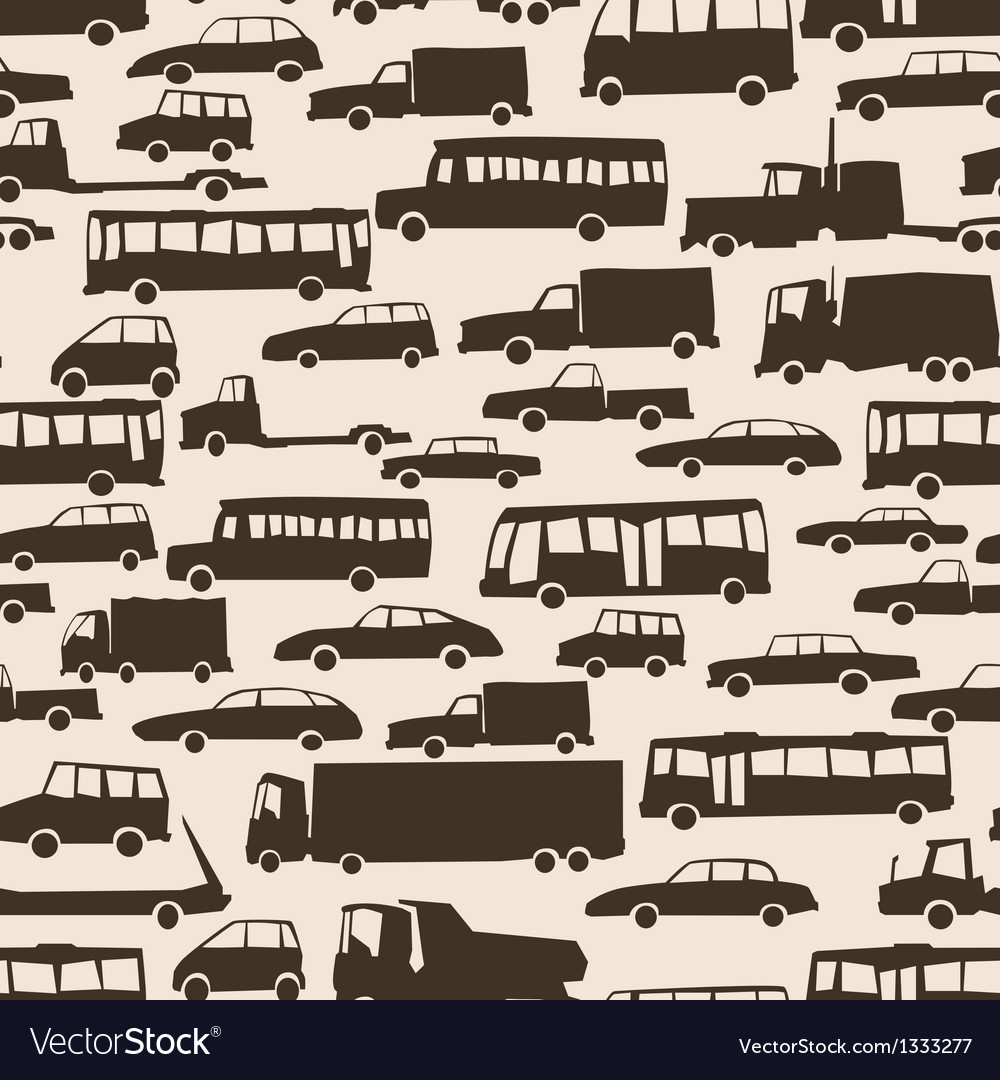 Seamless abstract cartoon background with many car vector | Price: 1 Credit (USD $1)