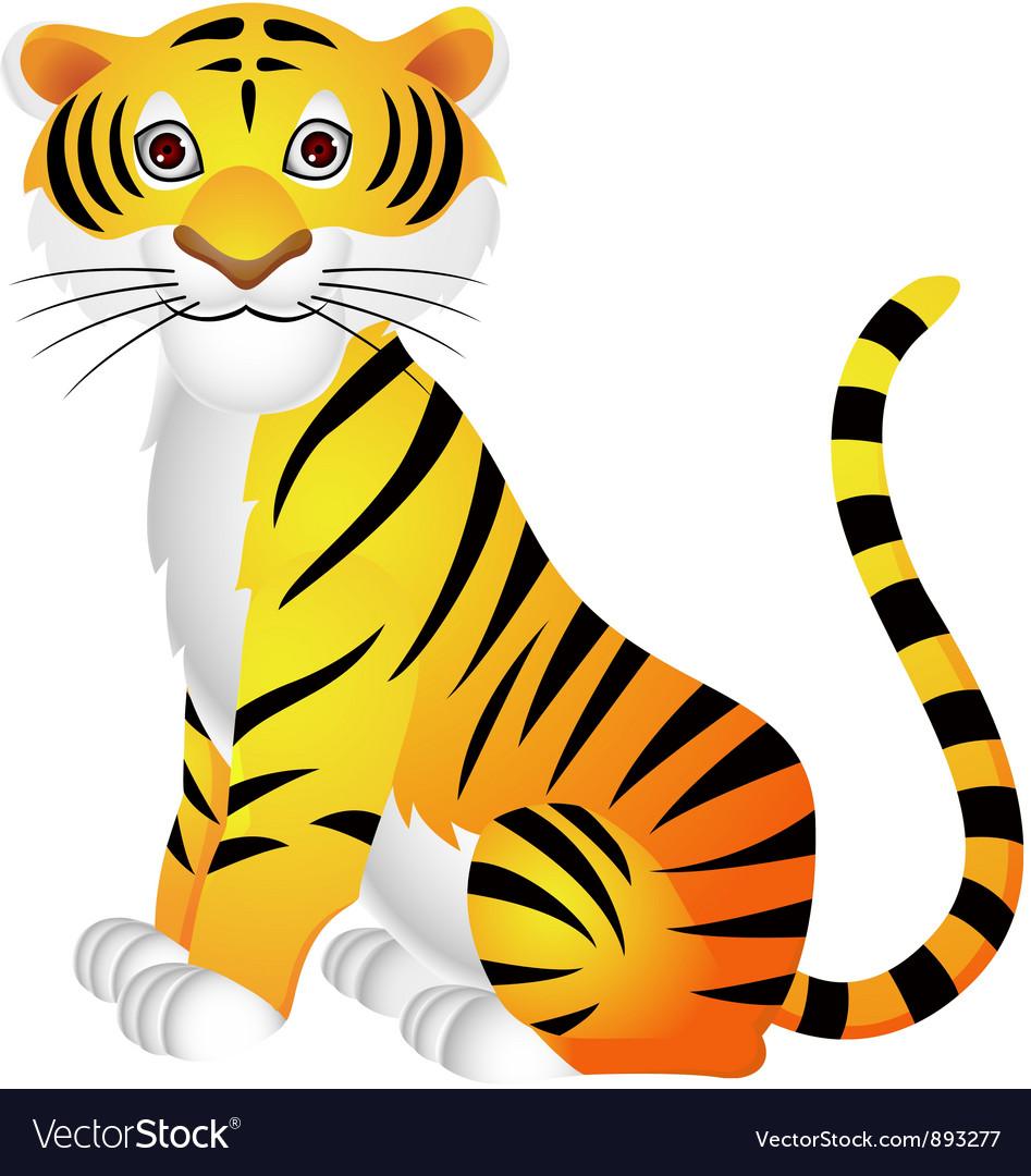 Tiger cartoon vector | Price: 3 Credit (USD $3)
