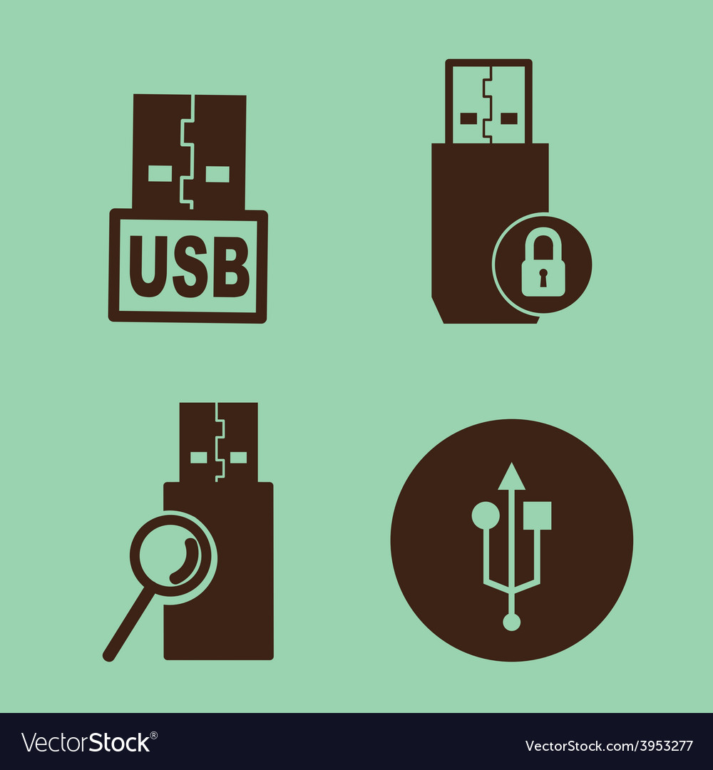 Usb device vector | Price: 1 Credit (USD $1)