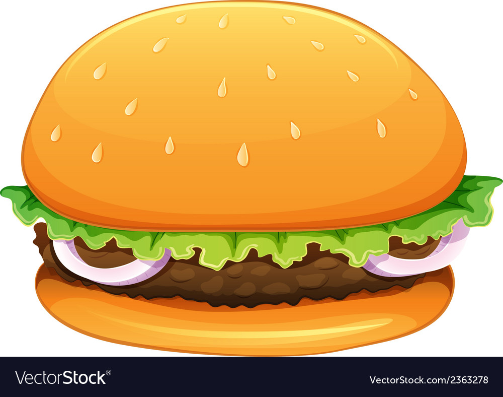 A big hamburger vector | Price: 1 Credit (USD $1)