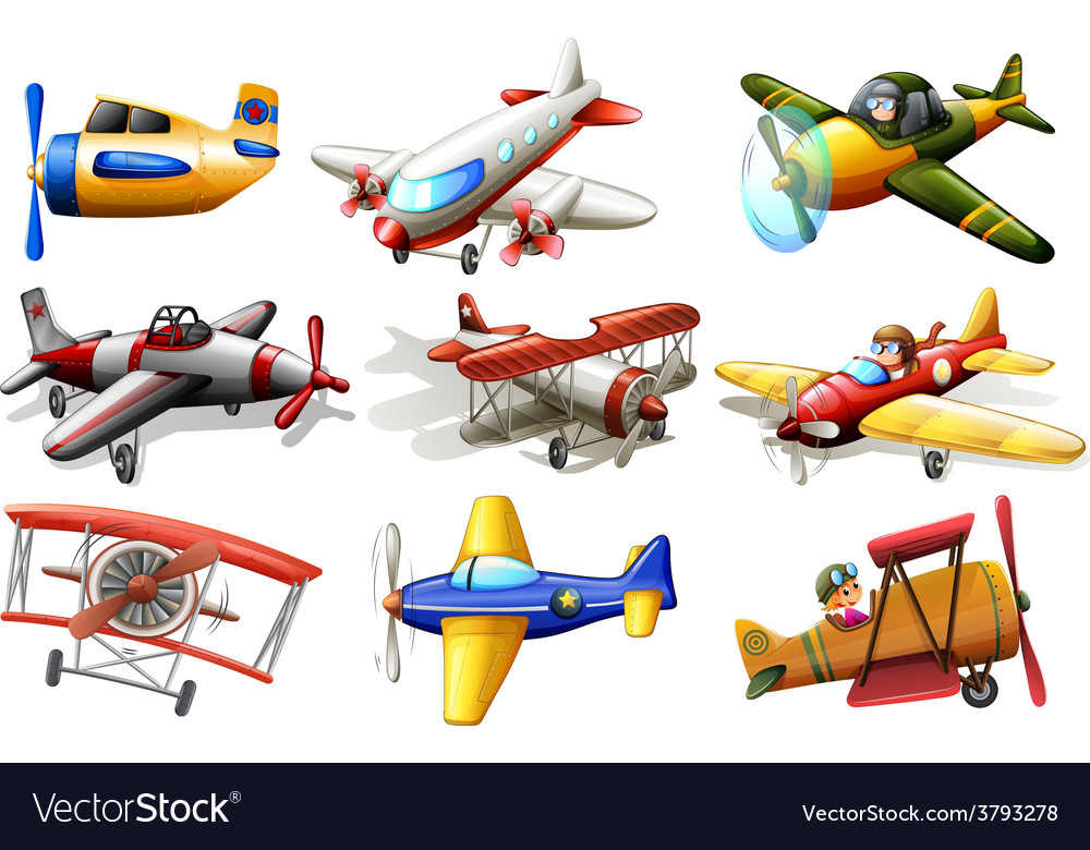 A group of planes vector | Price: 3 Credit (USD $3)