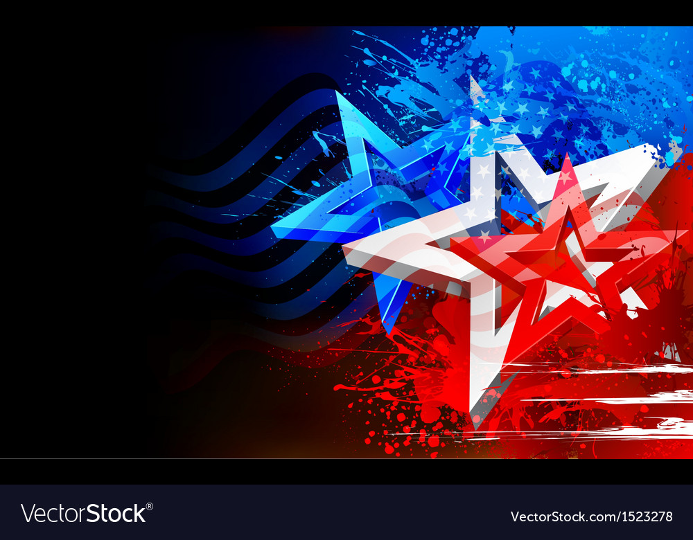Abstract american flag background vector | Price: 1 Credit (USD $1)