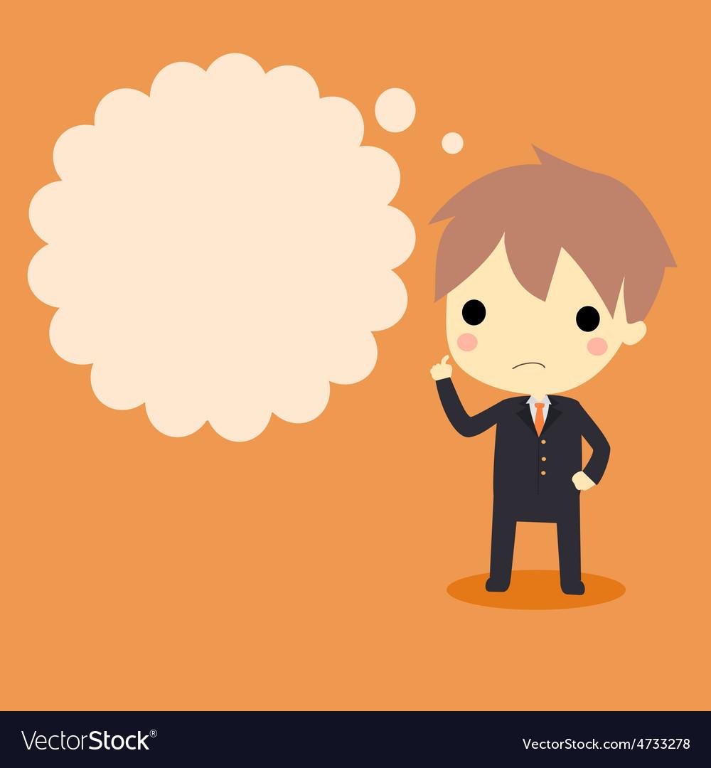 Businessman thinking vector | Price: 1 Credit (USD $1)
