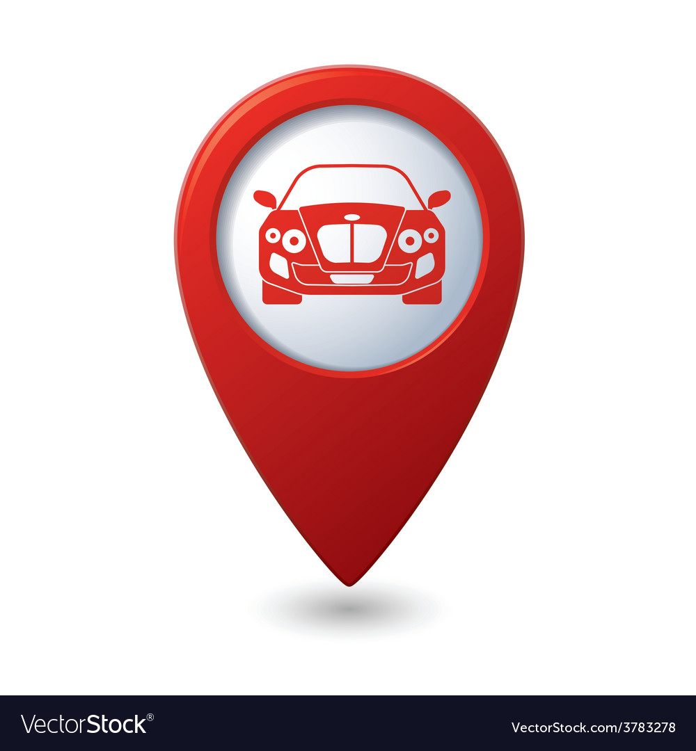Car red pointer vector | Price: 1 Credit (USD $1)
