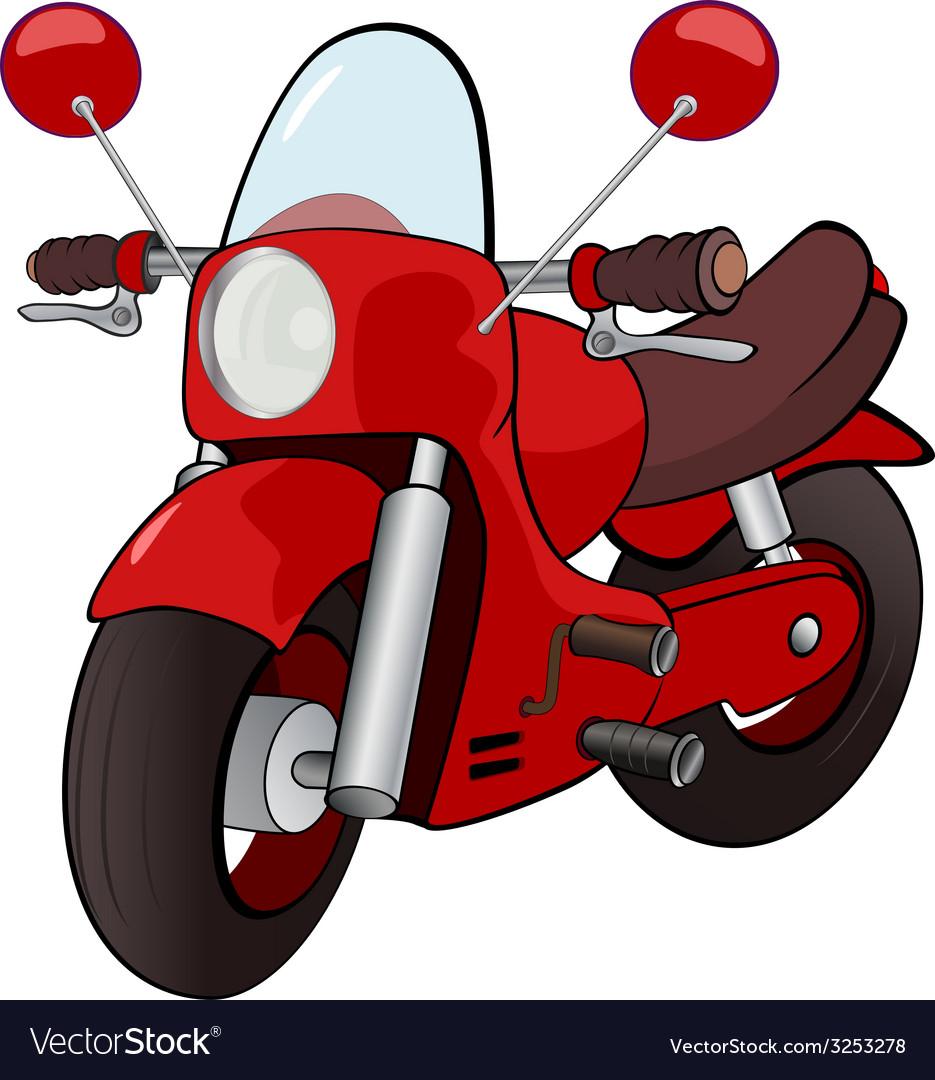 Cartoon motorcycle vector | Price: 1 Credit (USD $1)