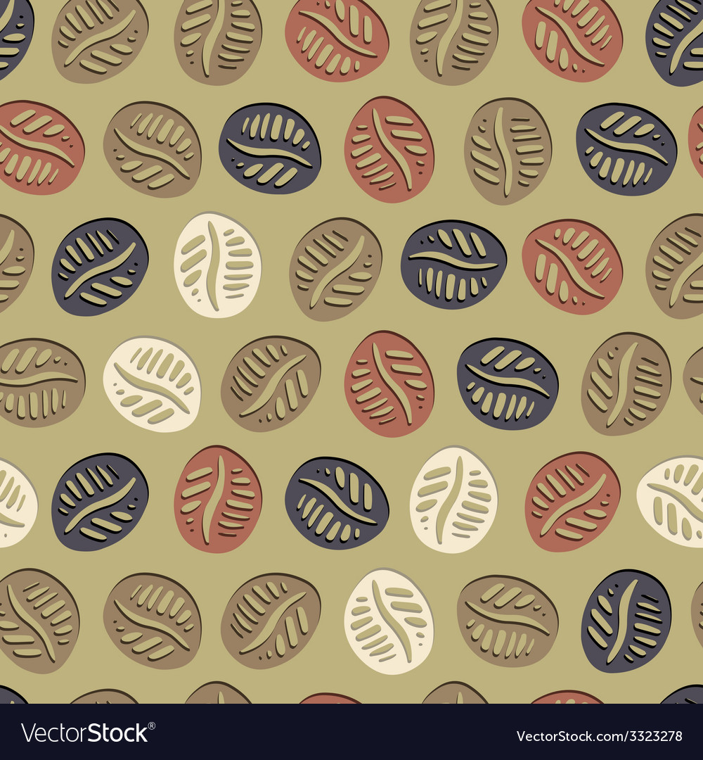 Coffee hand drawn pattern vector | Price: 1 Credit (USD $1)