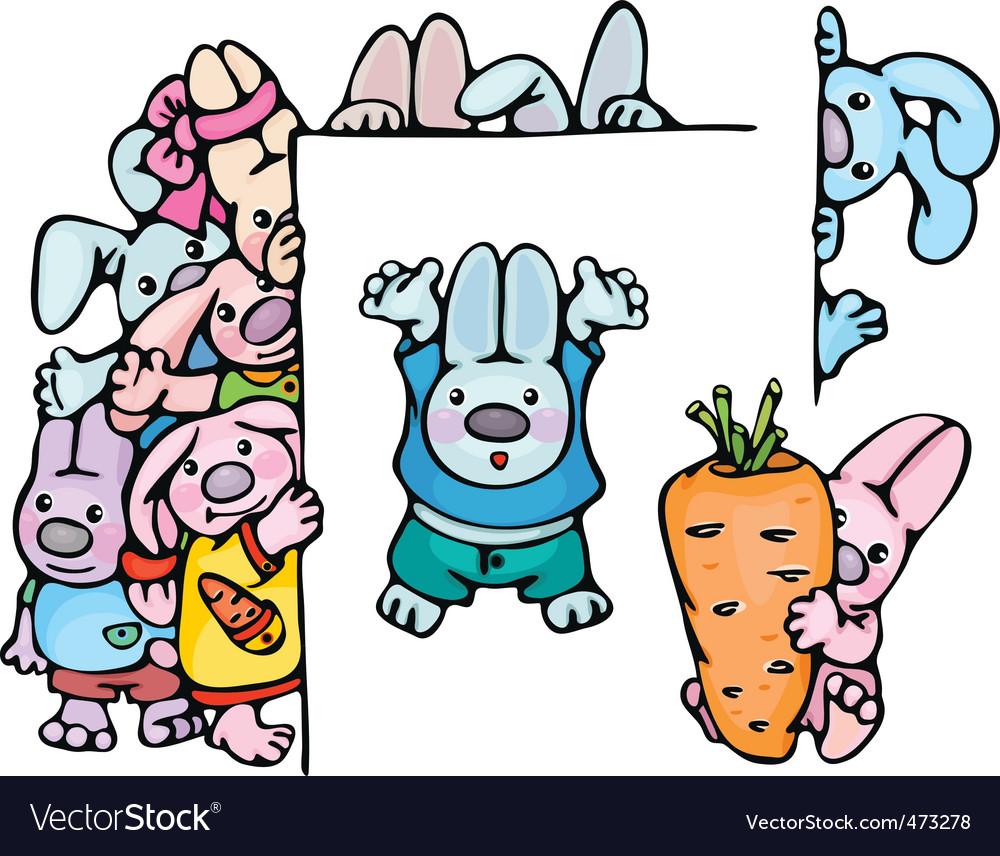 Cute rabbits vector | Price: 1 Credit (USD $1)