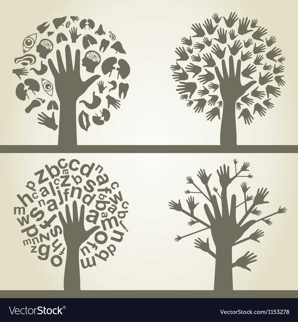 Hand a tree4 vector | Price: 1 Credit (USD $1)