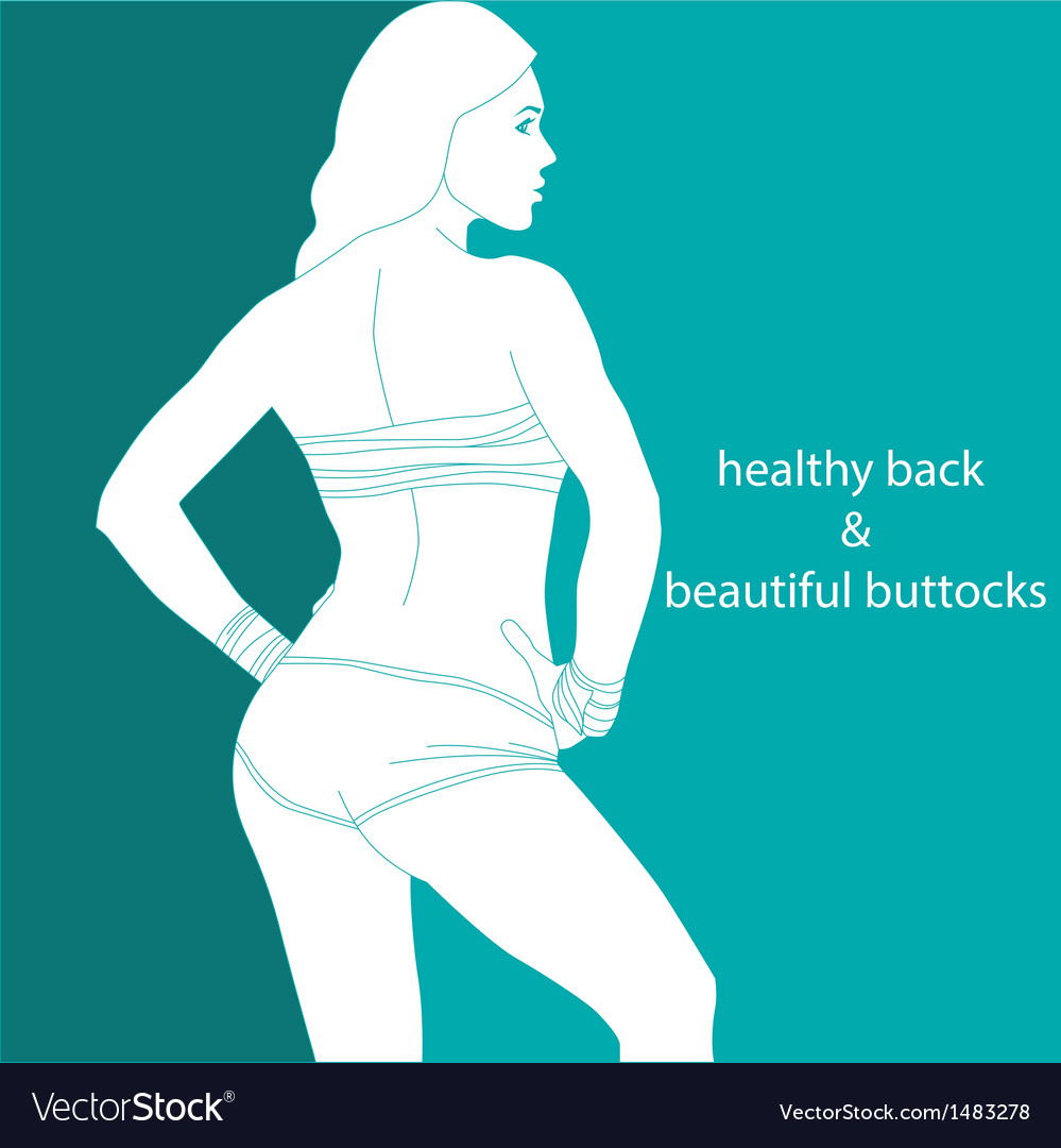Healthy back and beautiful buttocks vector | Price: 1 Credit (USD $1)