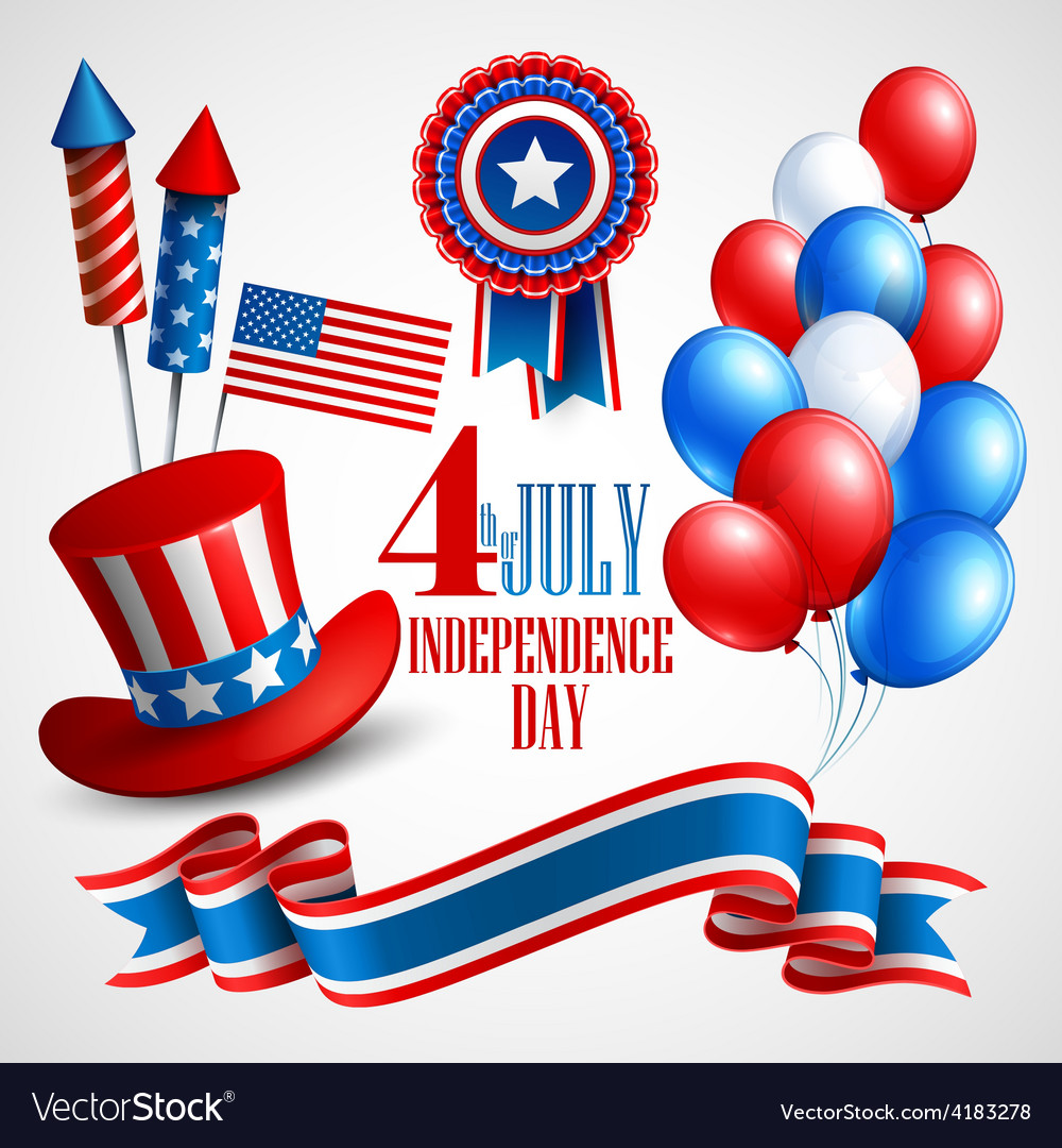Independence day holiday symbols vector | Price: 3 Credit (USD $3)