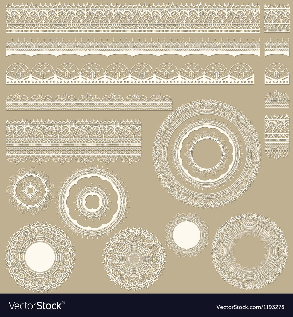 Lacy vintage design elements vector | Price: 3 Credit (USD $3)