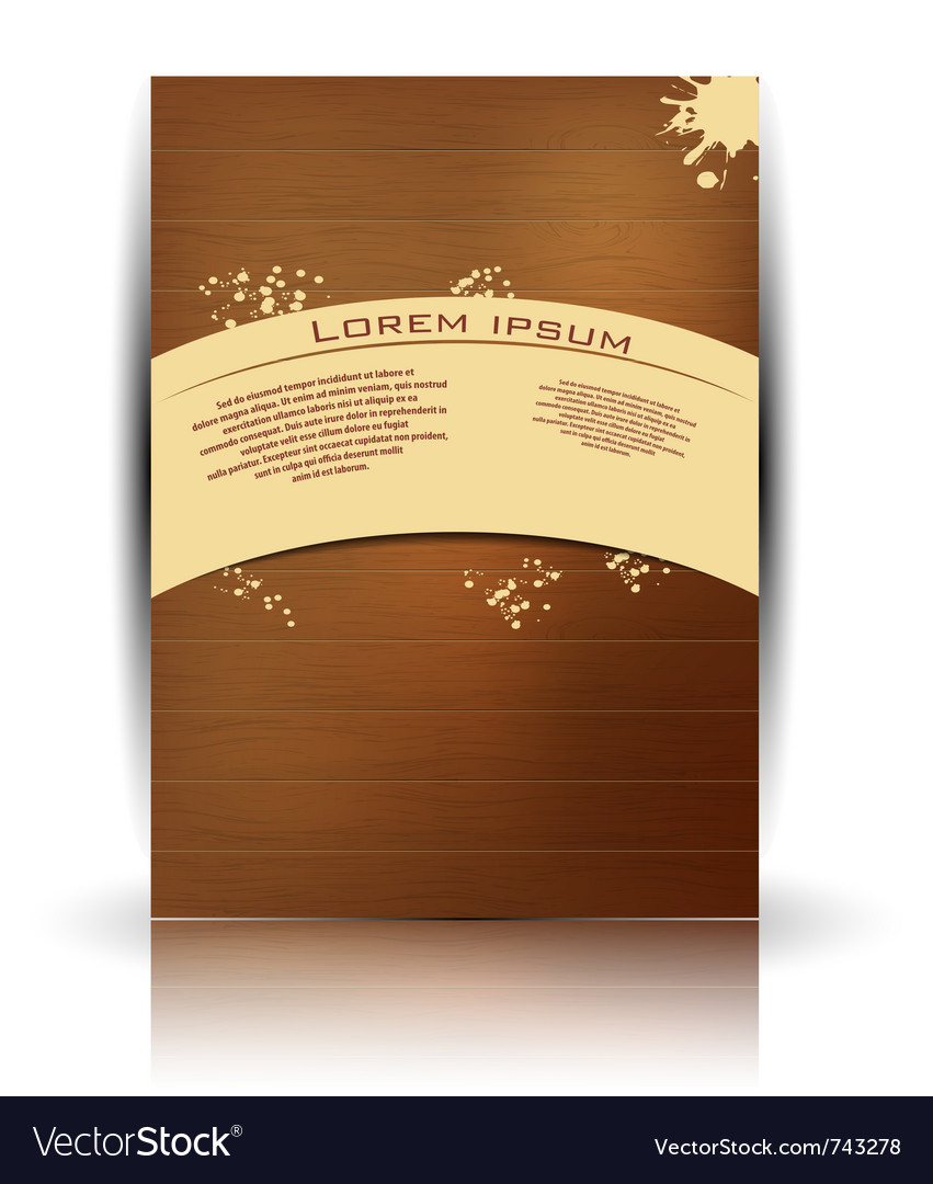 Wood texture retro card vector | Price: 1 Credit (USD $1)