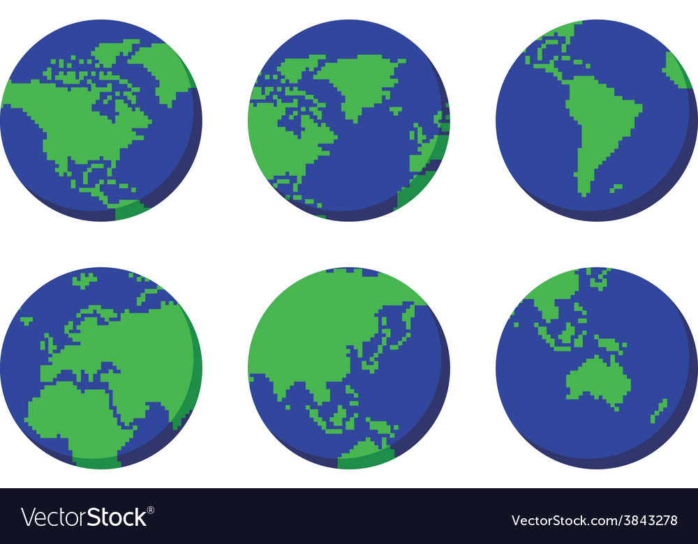 World globe map vector | Price: 1 Credit (USD $1)