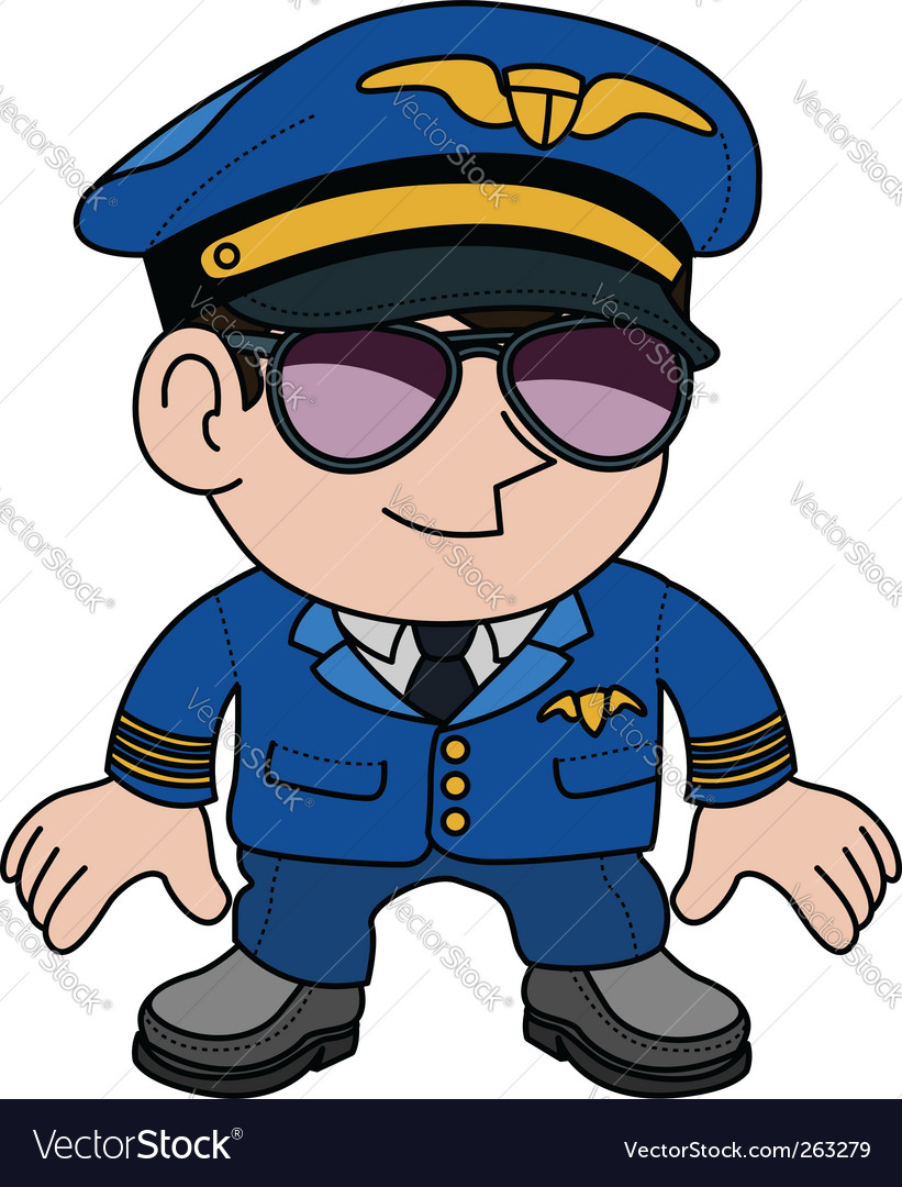 Airline pilot vector   Price: 1 Credit (USD $1)