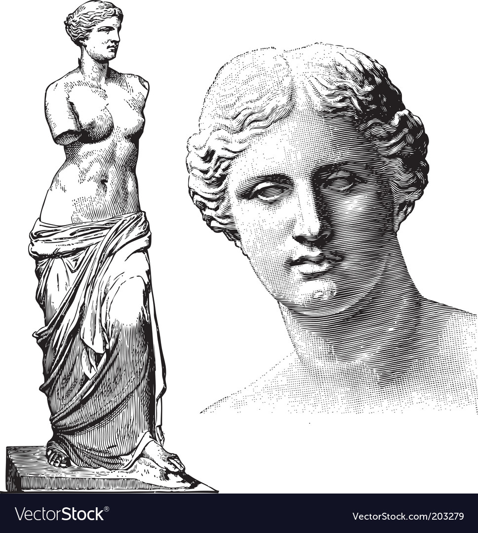Aphrodite statue vector | Price: 1 Credit (USD $1)