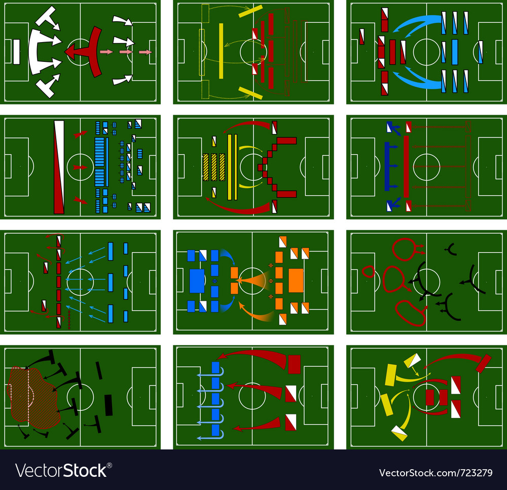 Football fields vector | Price: 1 Credit (USD $1)