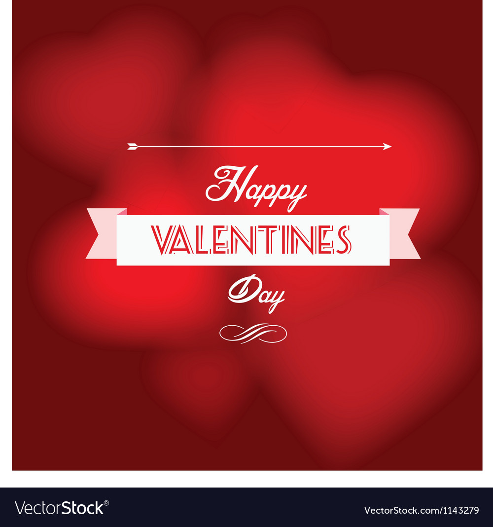 Happy valentine s day postcard vector | Price: 1 Credit (USD $1)