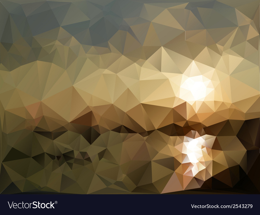 Mountains and sea landscape triangle design vector | Price: 1 Credit (USD $1)