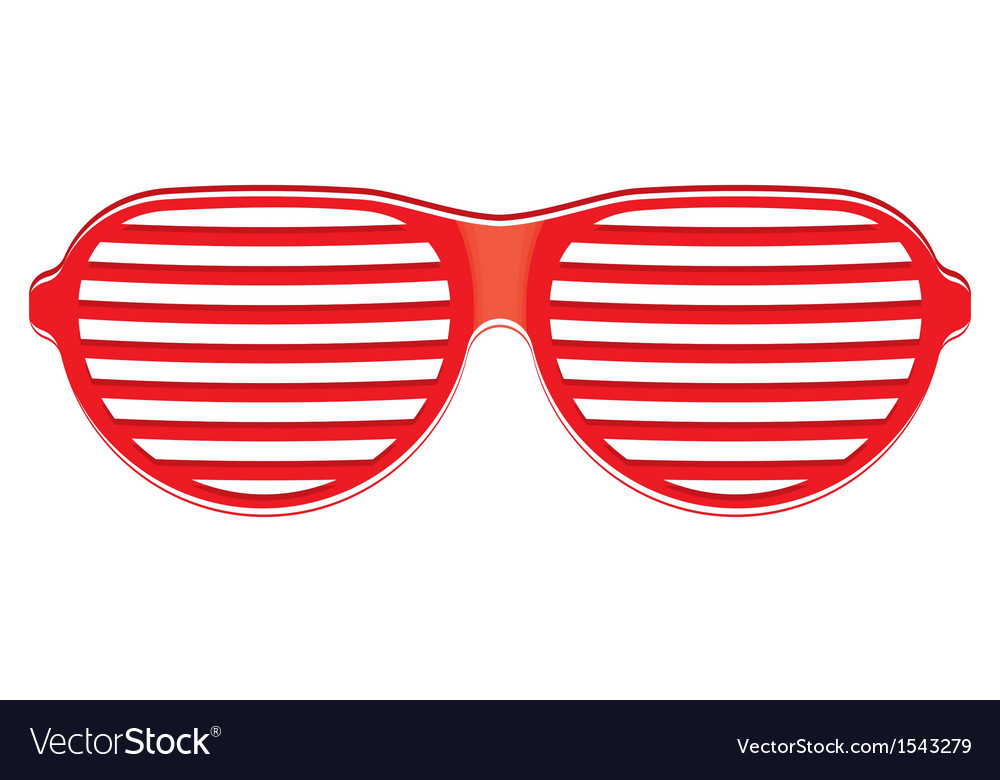 Red sunglasses isolated on white background vector