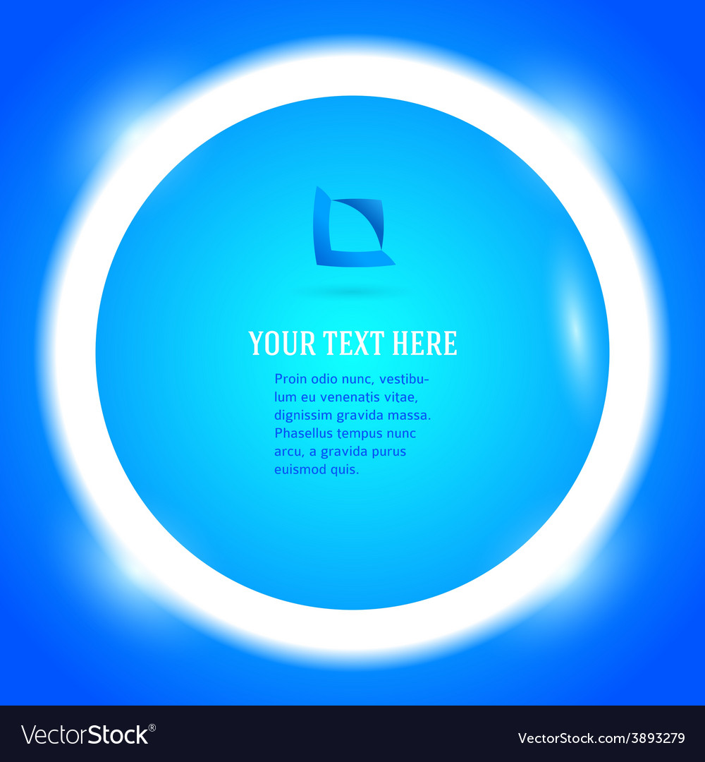 Round frame your message bright blue button vector | Price: 1 Credit (USD $1)