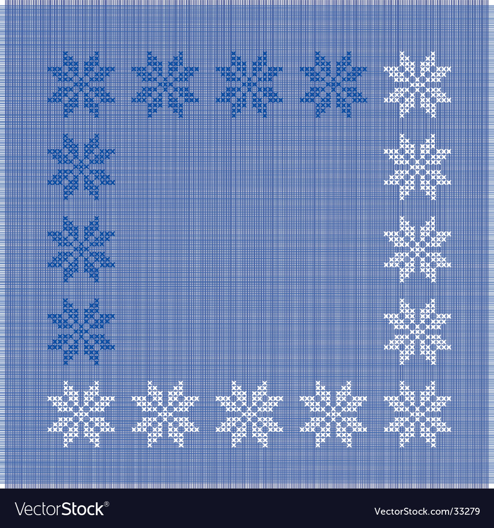 Snow-flakes vector | Price: 1 Credit (USD $1)