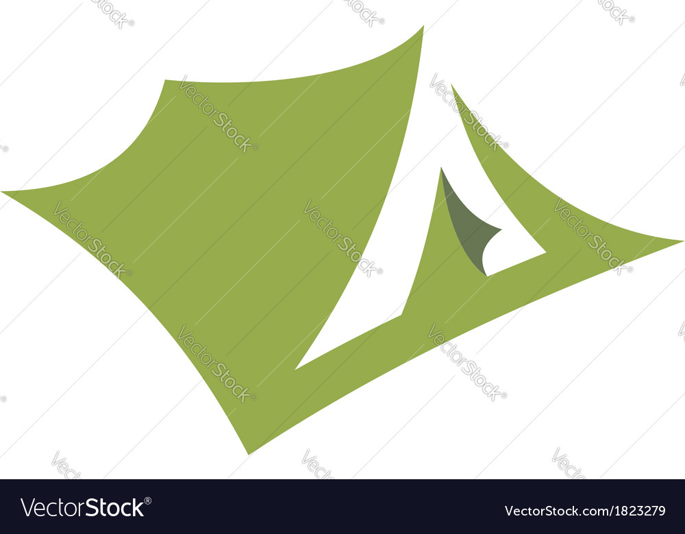 Stylized open pitched tent design vector | Price: 1 Credit (USD $1)