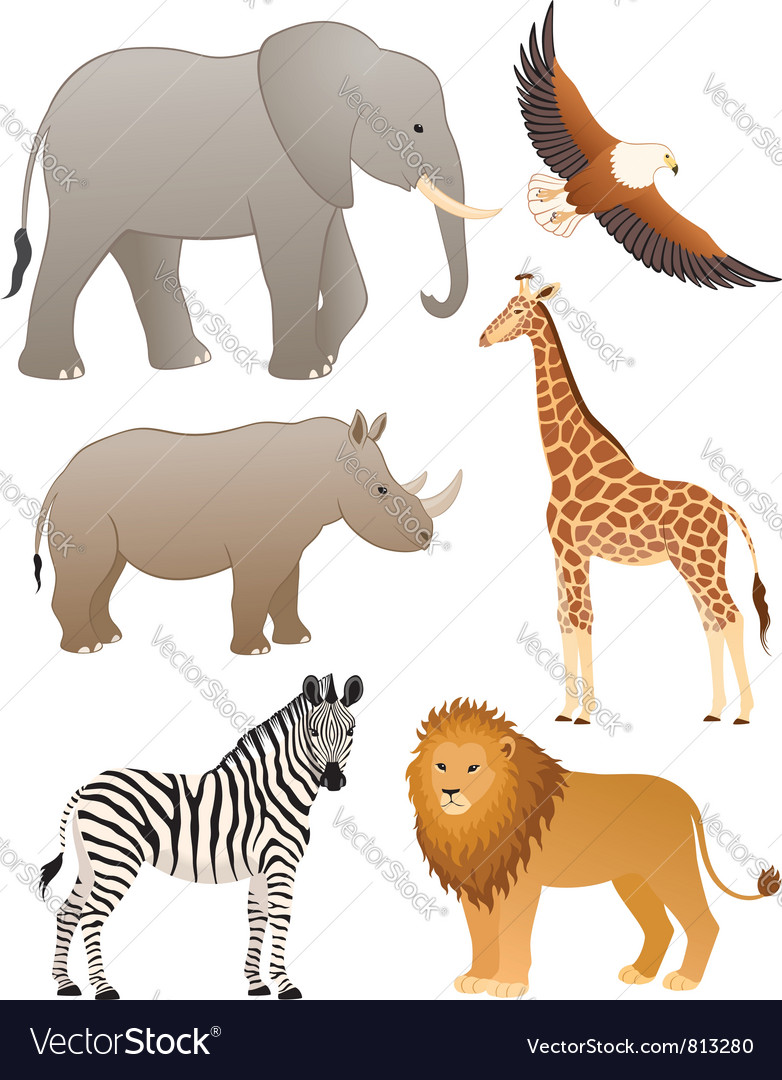African animals vector | Price: 3 Credit (USD $3)