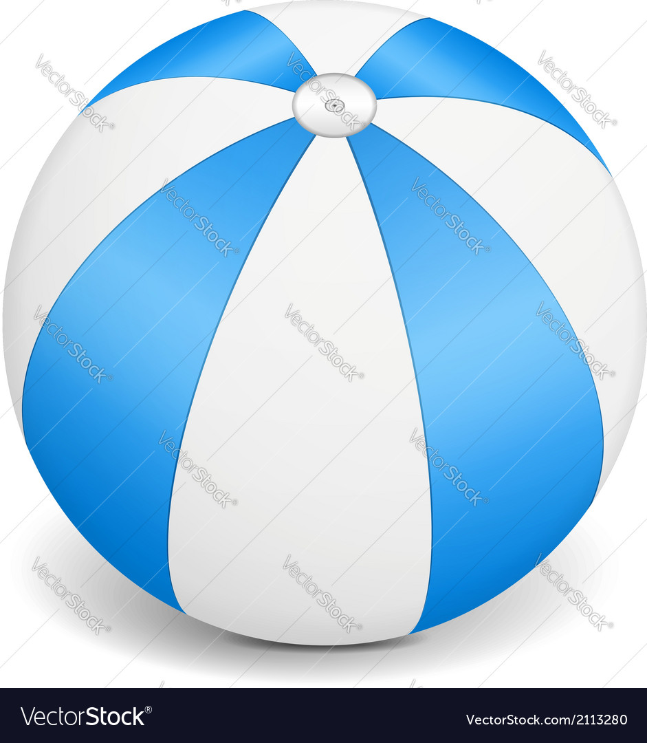 Blue beach ball vector | Price: 1 Credit (USD $1)