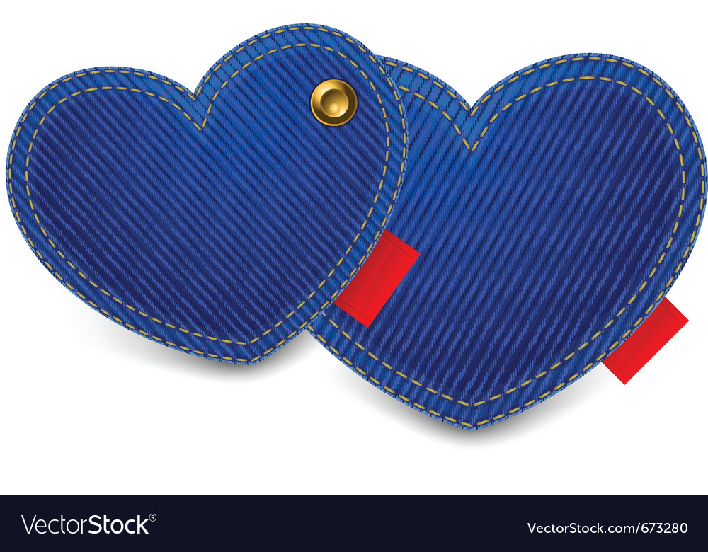Blue jeans hearts vector | Price: 1 Credit (USD $1)