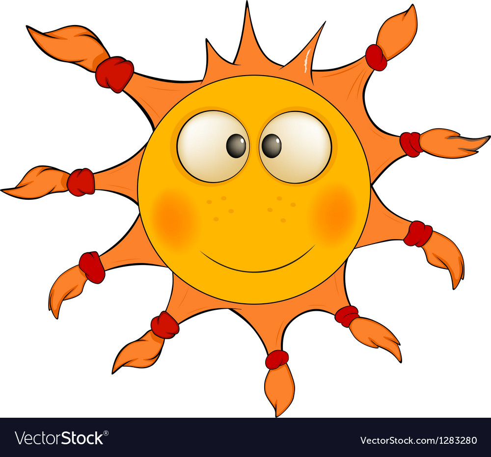 The cheerful sun cartoon vector | Price: 1 Credit (USD $1)