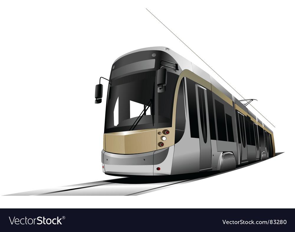 City tram vector | Price: 1 Credit (USD $1)