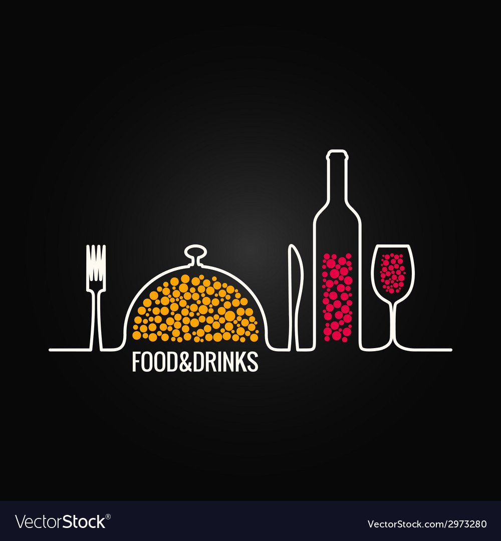 Food and drink menu background vector