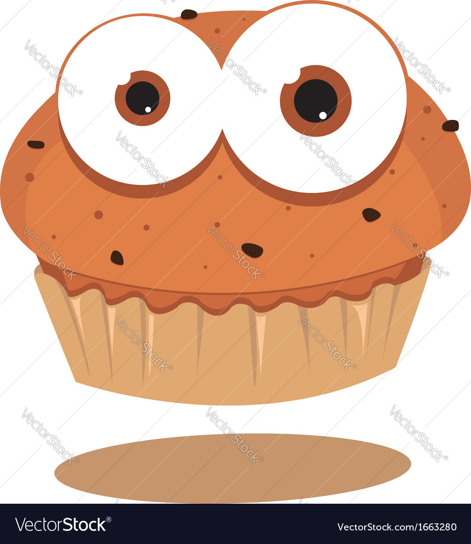 Funny muffin vector | Price: 1 Credit (USD $1)