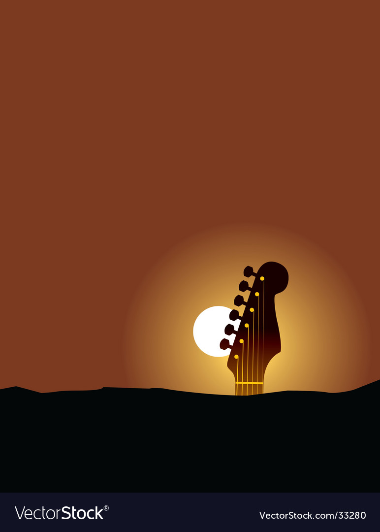 Guitar landscape vector | Price: 1 Credit (USD $1)