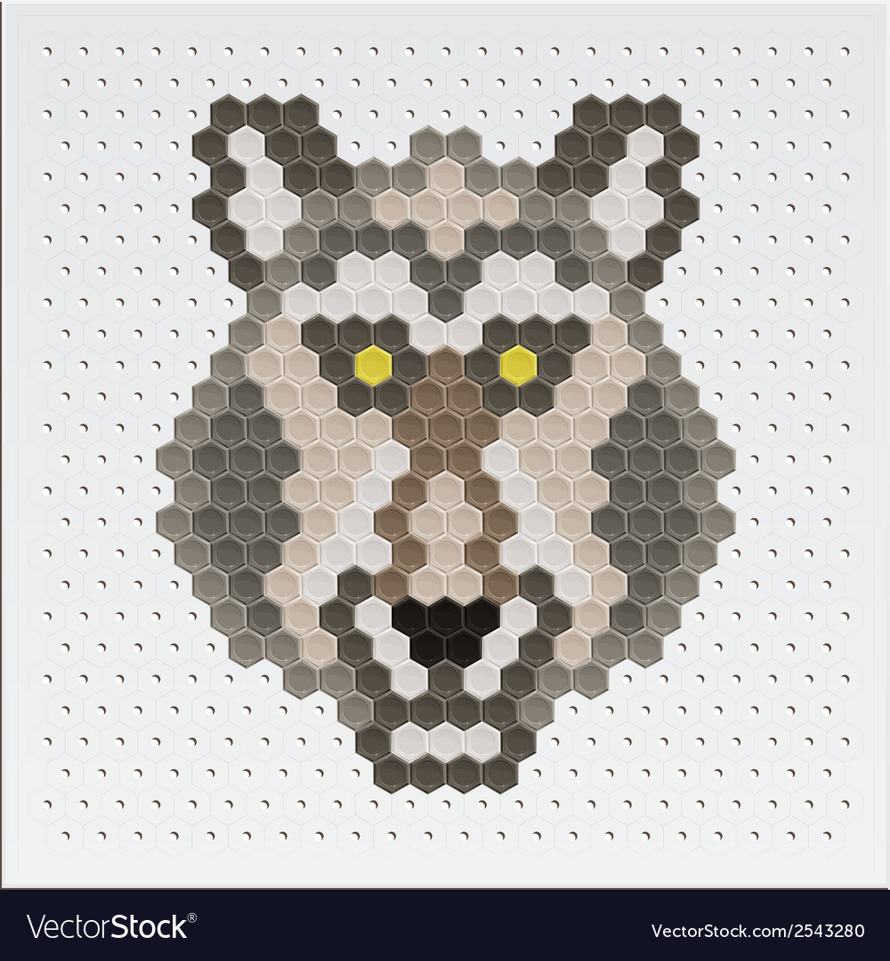 Mosaic wolf vector | Price: 1 Credit (USD $1)