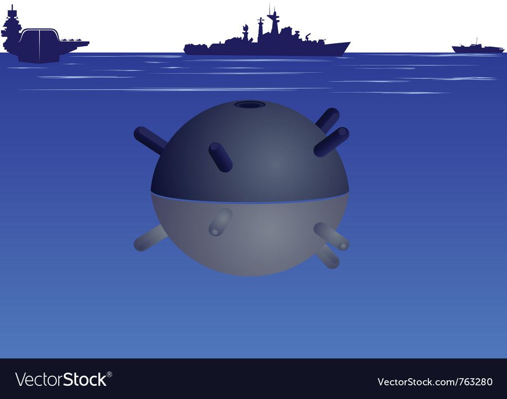 Naval mine vector | Price: 1 Credit (USD $1)