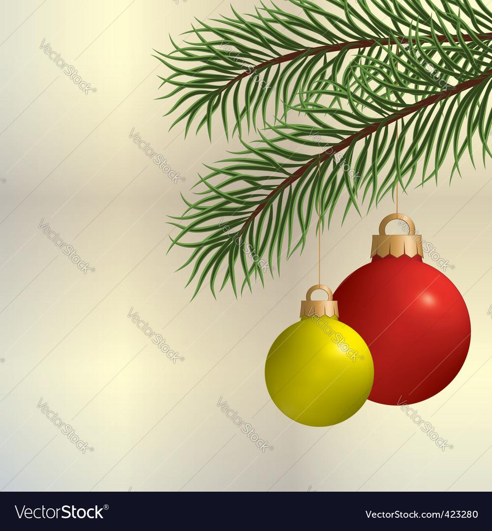 Pine branch vector | Price: 1 Credit (USD $1)