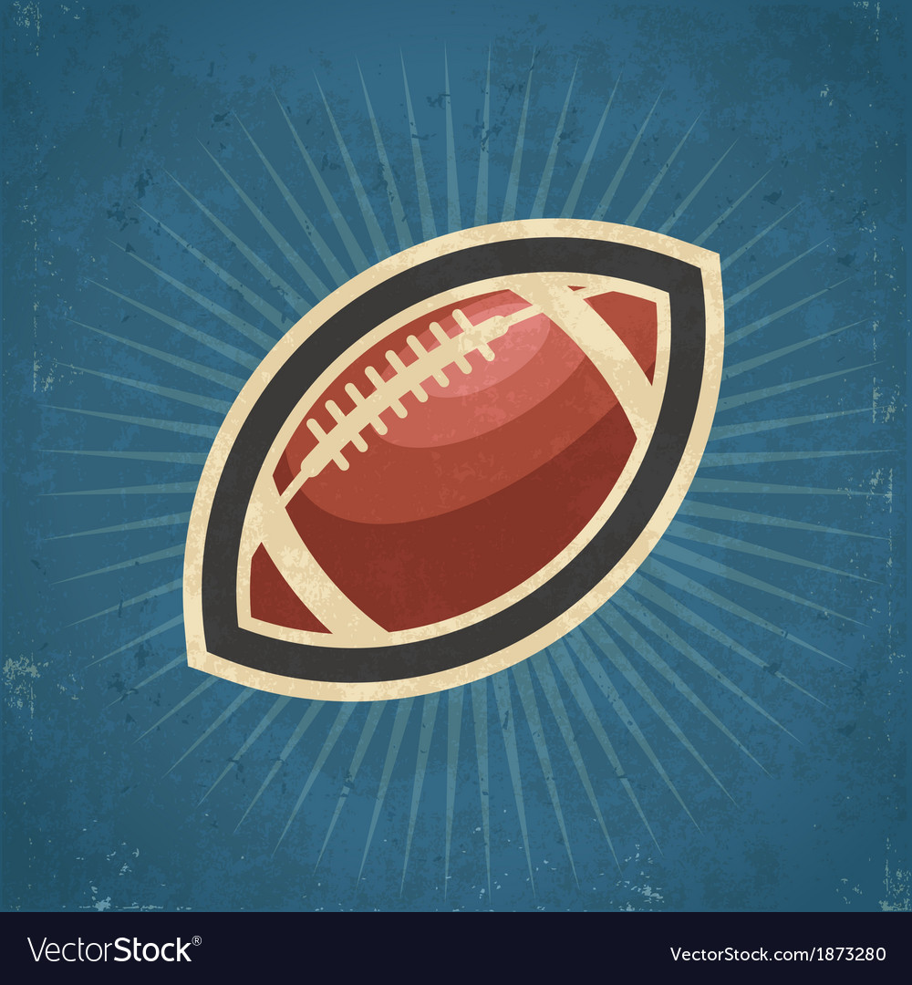 Retro american football vector | Price: 1 Credit (USD $1)