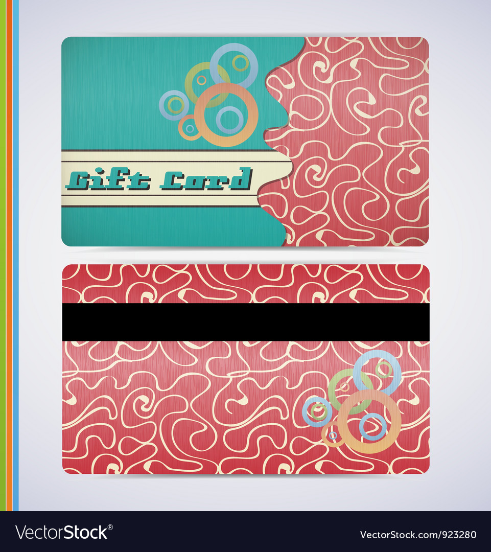 Retro gift card vector | Price: 1 Credit (USD $1)