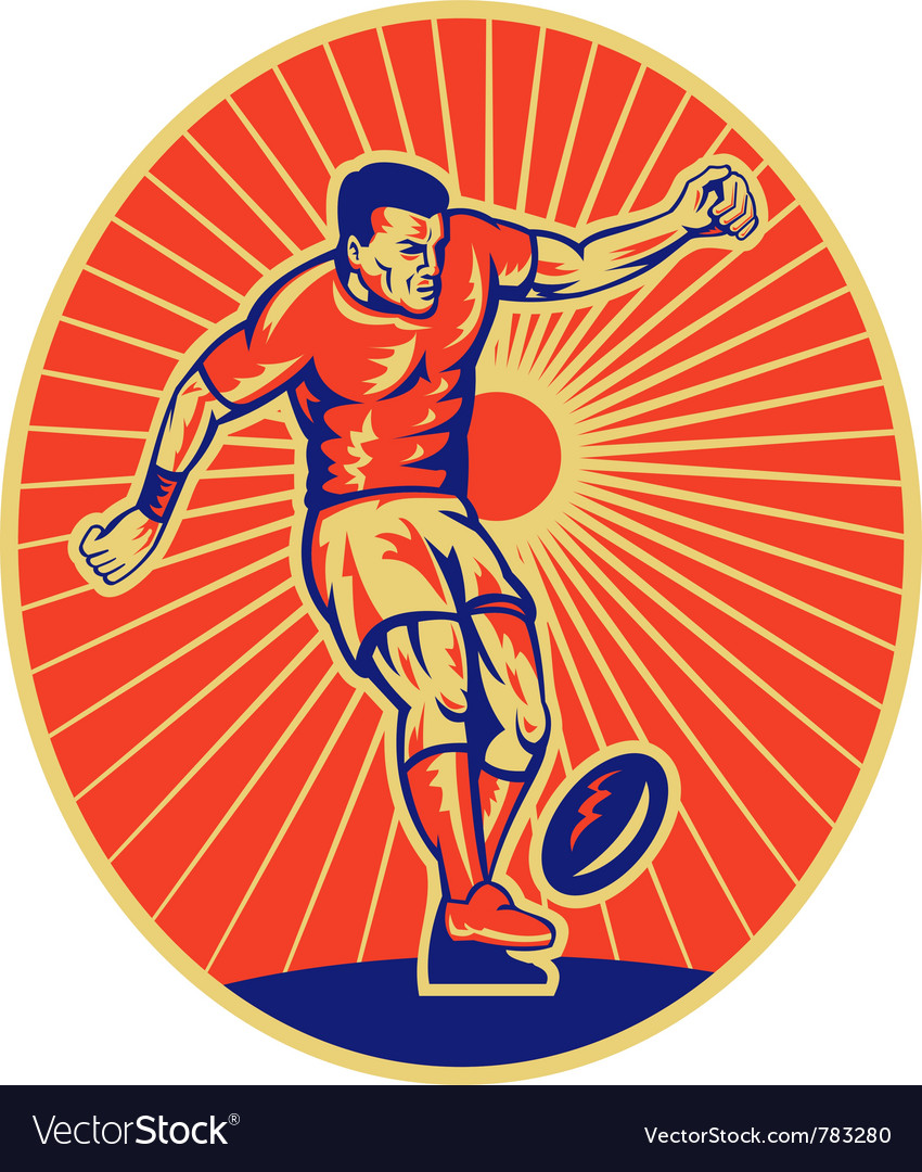 Retro rugby background vector | Price: 1 Credit (USD $1)