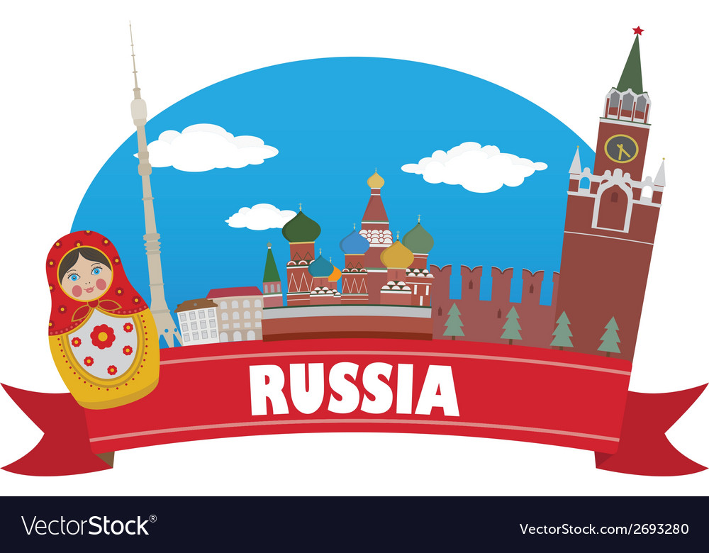 Russia vector | Price: 1 Credit (USD $1)