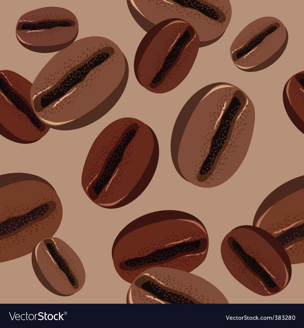 Seamless pattern with coffee beans vector | Price: 1 Credit (USD $1)