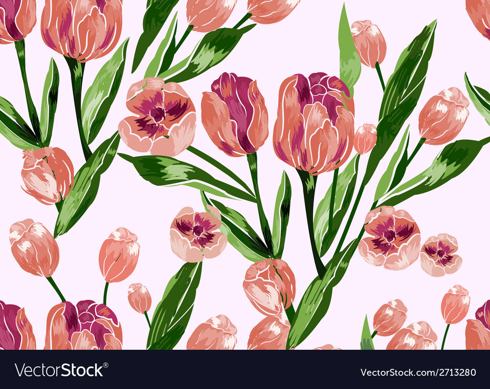 Seamless pattern with floral background vector | Price: 1 Credit (USD $1)